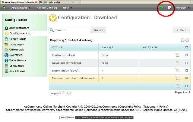 OSCOM V3 újdonságok beállítási oldala